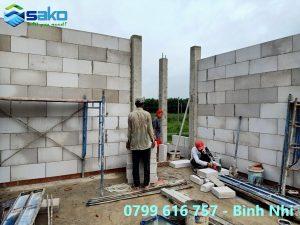 Kĩ thuật xây gạch nhẹ AAC