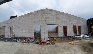 Gạch siêu nhẹ xây nhà kho tại Bình Dương