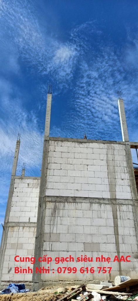 Gạch AAC xây nhà yến